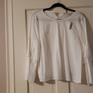 White madewell cotton blouse